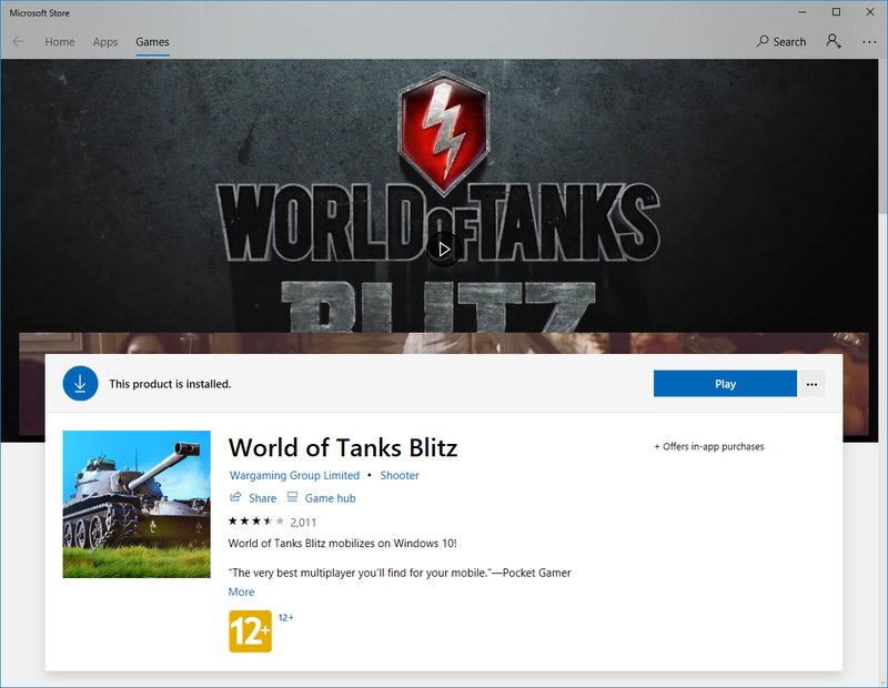 Installing World of Tanks Blitz with Windows 10 | World of Tanks Blitz