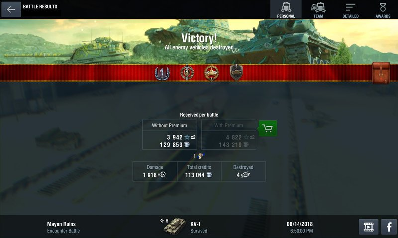 Statistics: Detailed Battle Results | World of Tanks Blitz