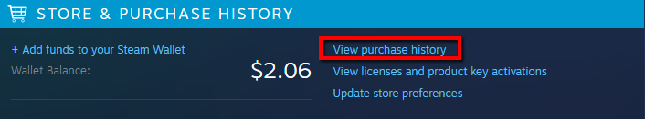 Missing Steam Purchase 2