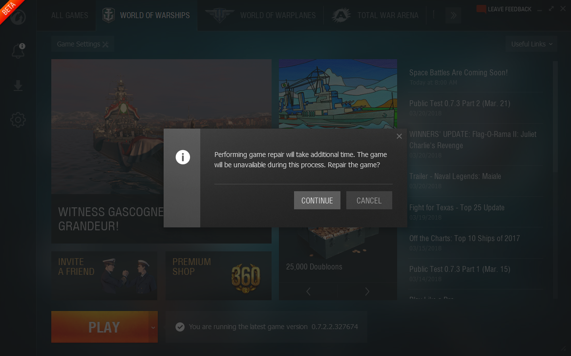The game does not start -    | World of Warships Player Support